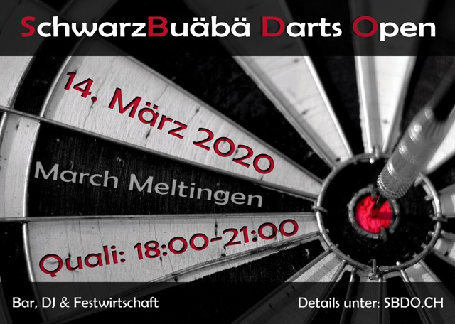 Flyer March Cup/Darts-Open
